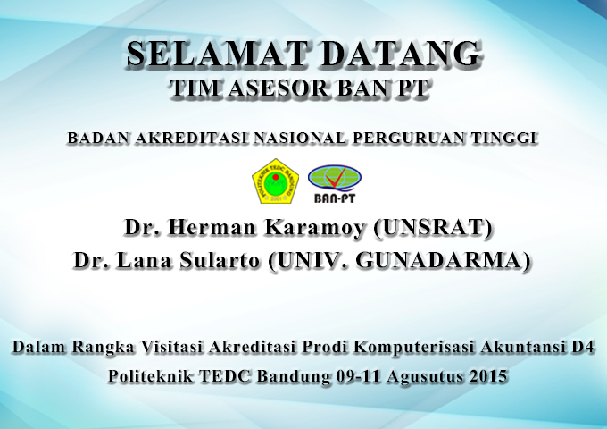 Akreditasi Akuntansi D4 oleh BAN PT